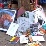 A makeshift altar at one of the Occupy encampments