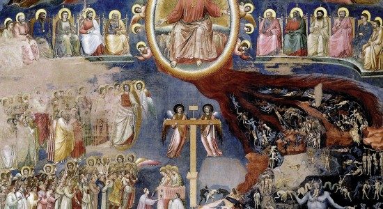 Medieval Last Judgments do justice to the narrative necessity (as opposed to doctrinal) of the devil for the Incarnation to make sense. This one is Giotto's from the Scrovegni Chapel (1307).