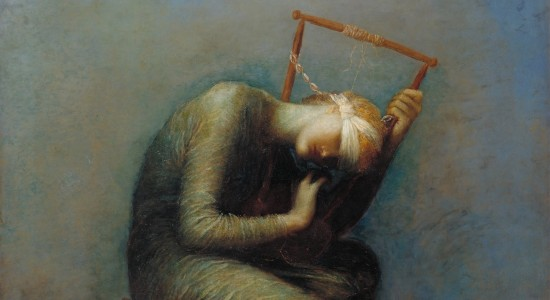 "G.K. Chesterton thought that ""Hope"" by George Frederick Watts ought to be called ""Despair."" (Source: Wikimedia Commons, PD-Old-100)"