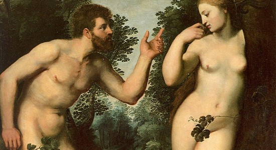 You'd think the body is the locus of sin from some depictions of this scene. (Peter Paul Rubens, Adam and Eve, 1597; Wikimedia Commons, PD-Old-100)