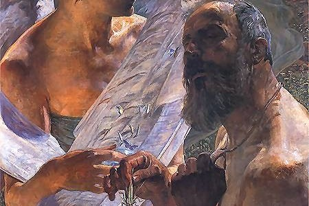 Grasshoppers/Locusts are a symbol of immortality and good luck, but they also make great snacks (Jacek Malczewski, Resurrection,