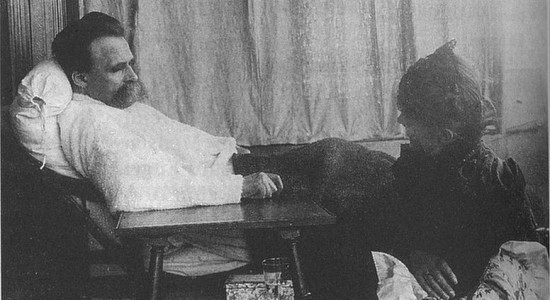 Nietzsche in 1899, Weakness catches up with all of us. (Source: Hans Olde, Sick NIetzsche Photo Series, 1899; Wikimedia Commons, PD-Old-100