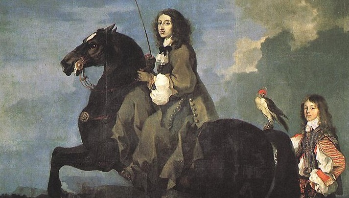 What has Brooks done for us lately? At least the splashy convert Queen Christina killed off the father of modern philosophy, Descartes. (Sebastien Bourdon, Christina of Sweden, 1653; Source: Wikimedia Commons, PD-Old-100).