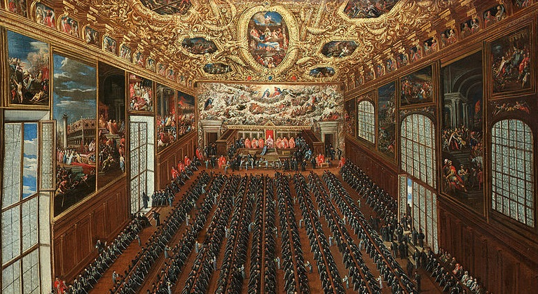Those who oppose the vast majority of abortions are legion (Joseph Heintz, The interior of the Sala Maggior Consiglio, The Doge's Palace, Venice, 1863; Source: Wikimedia Commons, PD-Old-100).