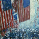 (Childe Hassam, Rainy Day, Fifth Avenue, 1916; Source: Wikimedia Commons, PD-Old-1923)
