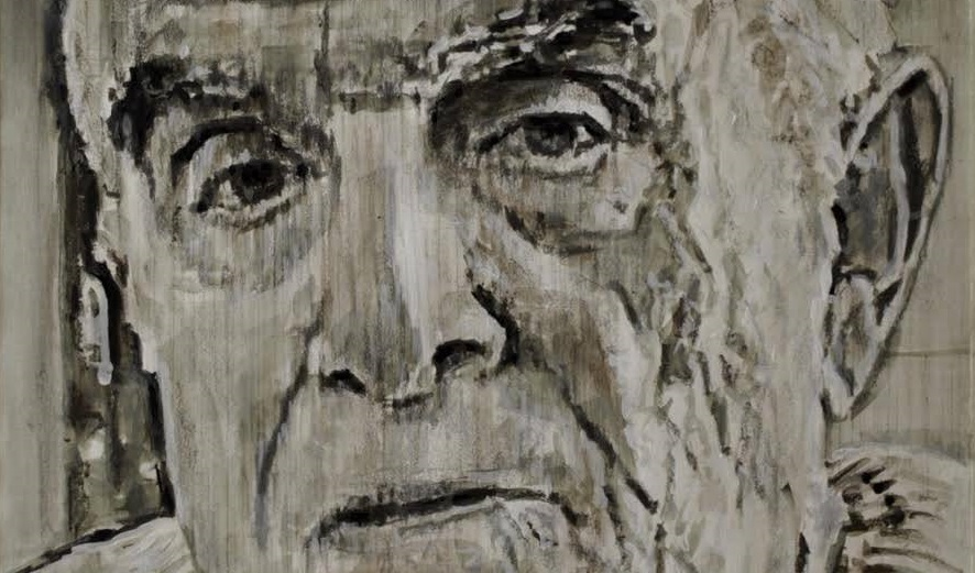 Study for a Portrait of René GIRARD (detail) by Luca Del Baldo pencil, charcoal and watercolor on paper 2013 (All rights reserved). My heartfelt thanks to Luca del Baldo for his permission to use this work.
