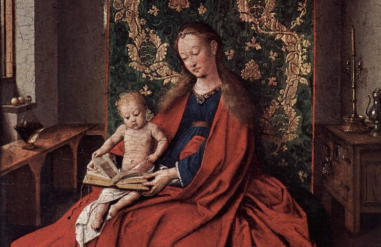 Start them young on non-fiction (Jan van Eyck, Mandonna and Child Reading, 1433; Source: Wikimedia Commons, PD-Old-100).