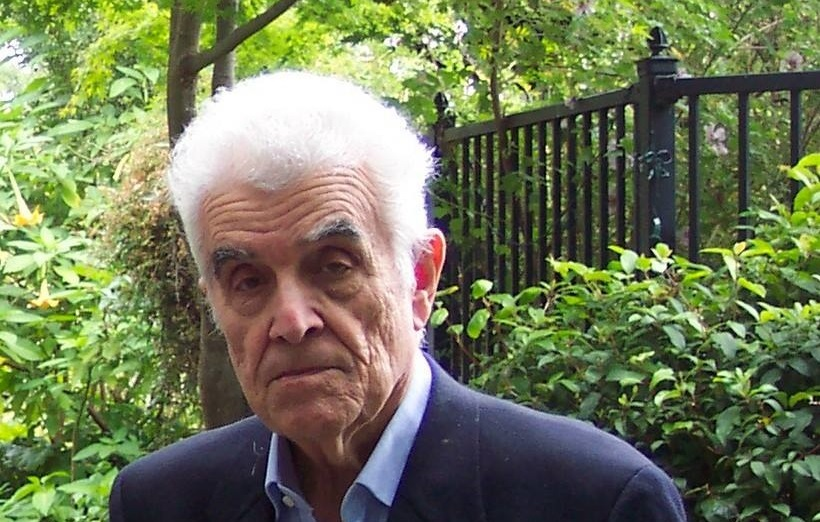 Rene Girard at Stanford University (Photo taken by and used by permission of Ewa Domanska, all rights reserved).