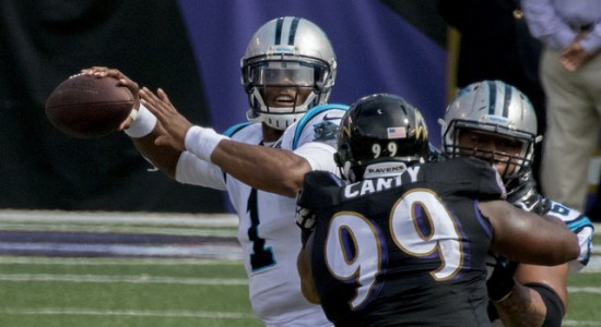 Keith Allison Follow Cam Newton Quarterback Cam Newton #1 of the Carolina Panthers in a game against the Baltimore Ravens at M&T Bank Stadium on September 28, 2014 in Baltimore, Maryland.