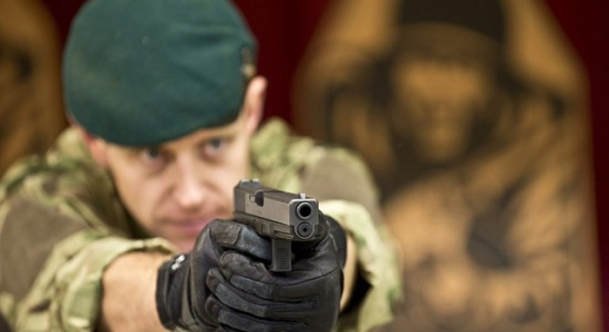 (Source: Flickr; Author: Defence Images; Title: Royal Marine with Glock 17 Sidearm; CC by 2.0)