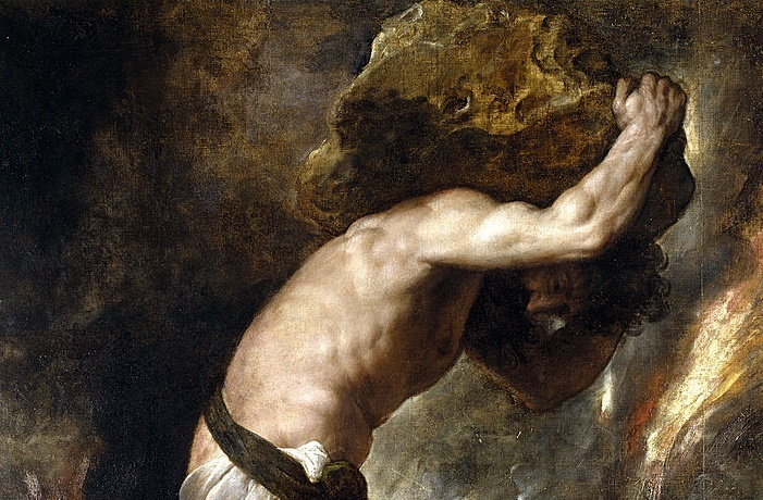 an analysis of the punishment of sisyphus by god Sisyphus was deemed guilty of hubris in his belief that he could outsmart the gods, and that he had betrayed zeus' secret as if it were his place to be involved in the affairs of a god as punishment, he was condemned to spend eternity rolling a boulder up a hill.