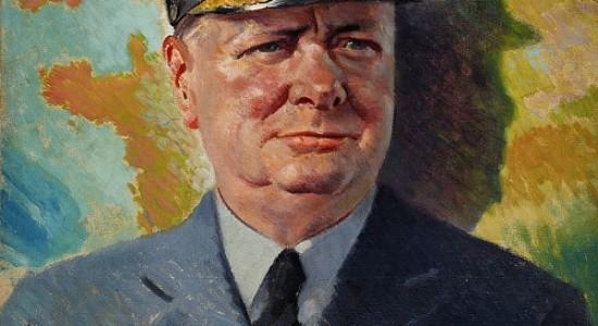 (Anon., Winston Churchill in RAF uniform, c. 1940; Wikimedia, PD)