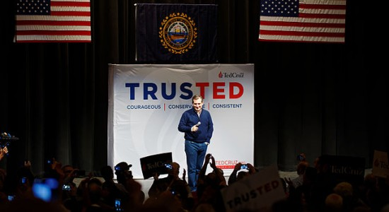 Cruz Takes Aim at Top Rivals — Especially Trump — in New Hampshire, by Michael Vadon; Wikimedia, CC BY-SA 4.0)