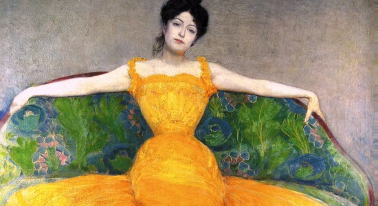 Relax, there's so much theology luxury to go under your Christmas tree (Max Kurzweil, Lady in a Yellow Dress, 1899; Source: Wikimedia, PD-Old-100)