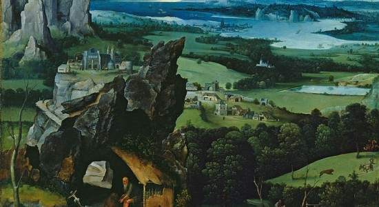 (Joachim Patinir, Landscape with St. Jerome, 1517; Source: Wiki Commons, PD-Old-100)