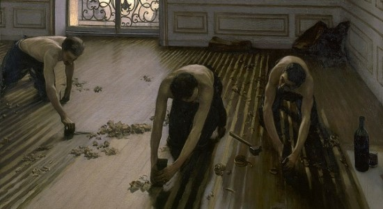 (The Floor Planers, Gustave Caillebot, 1875; Source: Wiki Commons, PD-Old-100).
