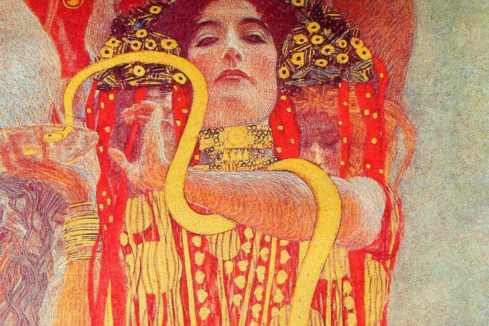 (Gustav Klimt, Medicine, c. 1890's; Source: Wiki Commons, PD-Old-90).