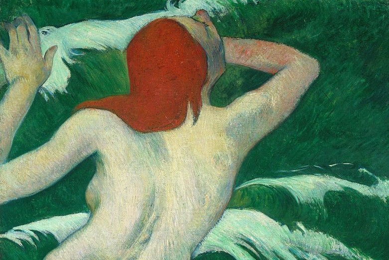 You can't have sex if you're alone (Paul Gaugin, In the Waves, or Ondine, 1889; Source: Wiki Commons, PD-Old-100)