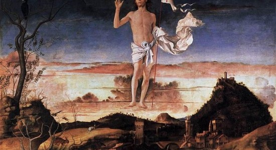 (Giovanni Bellini, Resurrection of Christ, 1475; Wikimedia, PD-Old-100)