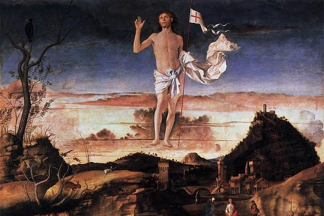 (Giovanni Bellini, Resurrection of Christ, 1475; Wikimedia, PD-Old-100)