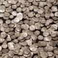 Silver coins from pre-Roman Lombardy. Imagine the size of the pile if there were 100,000,000,000,000,000 of them.