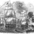 "Commodore Perry's 1854 fleet of ""black ships"""