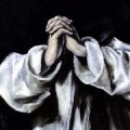 """""""St Dominic in Prayer"""" (subset) by El Greco, 1586–90"""