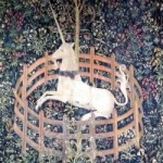 """The Unicorn in Captivity"" (c. 1500), the Unicorn Tapestry collection, The Cloisters"