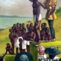 American slave auction, 1619