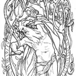 Odin sacrificed himself to himself (the highest god) by hanging from a tree. Illustration by Lorenz Frølich (1895).