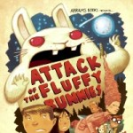 "Cover artwork for book ""Attack of the Fluffy Bunnies"""