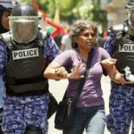 Protester in Maldives