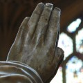 Praying hands (in marble)