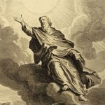 Enoch rises into heaven (subset of 1728 illustration)