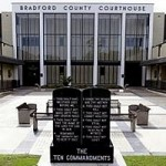 Ten Commandments monument on government property in Starke, FL