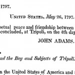 Fragment of Treaty of Tripoli, 1797