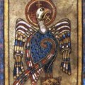John the evangelist is represented as an eagle in the Book of Kells (c. 800)