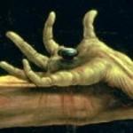 Nailed hand