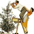 Trimming the tree (Norman Rockwell)