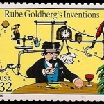 U.S. Rube Goldberg stamp, 1995