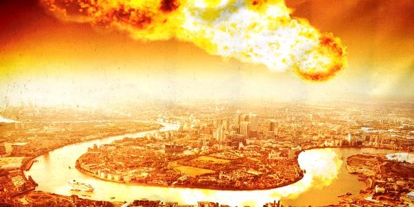 Meteor destroys London