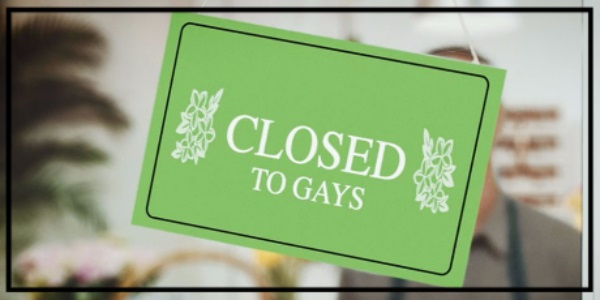 Closed to gays sign