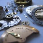 Clock in pieces