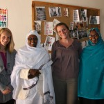 Alisa Roadcup (farthest left) with Dr. Hawa Abdi (second from left, in white), a 2012 Nobel Peace Prize nominee, and others.