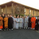 Monastic students at University of the West, Rosemead, CA, January 20, 2013. Photo by Vy Furen (Phuoc Nhan) and posted to her Facebook page.