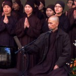 Venerable Thich Nhat Hanh at MacArthur Park, Los Angeles, on September 30, 2007. Photo by the author.