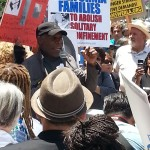 Actor and activist Danny Glover speaks at the International Day of Action in Solidarity with the CA Prisoner Hunger Strikers and Justice for Trayvon Martin's Family Members in Downtown Los Angeles, July 31, 2013. Photo by the author.