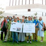 "The professors and students for the University of the West class MDIV 601: ""Buddhist Ministry and the Prison-Industrial Complex"" at the Twin Towers Correctional Facility, Los Angeles, CA, on September 10, 2013. Photo by Linda Hayward."
