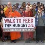 The participants in Buddhist Global Relief's 2013 Walk to Feed the Hungry in Los Angeles, CA, November 17th, 2013. Photo by Tom Mortiz.