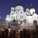 The Rebuilt Cathedral of Christ the Savior, in Moscow